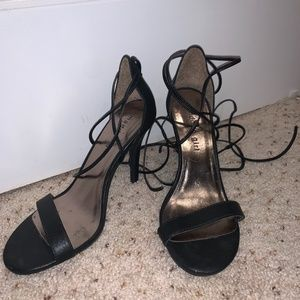 Madden Girl Lace up black heels